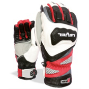 Level Race CF Ski Racing Gloves, Red, medium