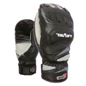 Level Race CF Ski Racing Mittens, Black, medium