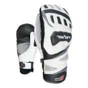 Level Race CF Ski Racing Mittens, White, medium