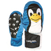 Level Animal Kids Mittens, Royal-Penguin, medium