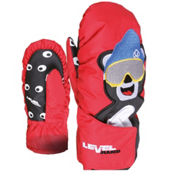 Level Animal Kids Mittens, Red-Bear, medium
