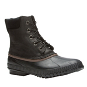 Sorel Cheyanne Lace Mens Boots, Black-Dark Brown, medium