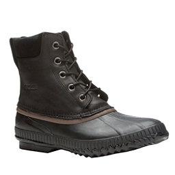Sorel Cheyanne Lace Mens Boots, Black-Dark Brown, 256