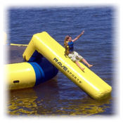 Rave Aqua Slide Small Water Trampoline Attachment 2013, Blue Yellow, medium