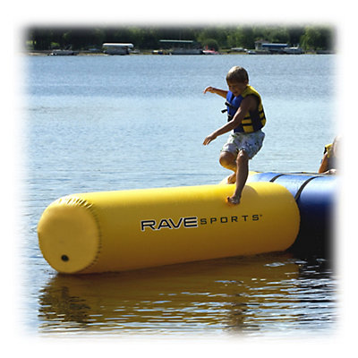Rave Aqua Log Small Water Trampoline Attachment, , viewer