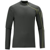 Salomon Fleet II Mens Long Underwear Top, Asphalt-Asphalt, medium