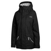 Oakley Grete Womens Insulated Ski Jacket, Jet Black, medium