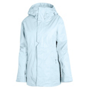 Oakley Resilient Womens Insulated Ski Jacket, Blue Crystal, medium
