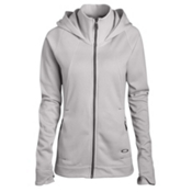 Oakley Malleable Fleece Womens Hoodie, Light Grey, medium