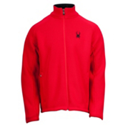 Spyder Core Foremost Full Zip Mens Sweater, Red-Black, medium