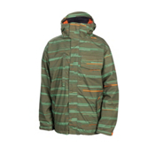 686 Smarty Static Mens Insulated Snowboard Jacket, Army Streak, medium