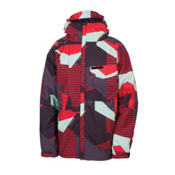 686 Mannual Mix Mens Insulated Snowboard Jacket, Red Mix Camo, medium