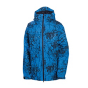 686 Mannual Cracked Mens Insulated Snowboard Jacket, Blue Cracked Skulls, medium