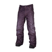 686 LTD Destructed Denim Insulated Mens Snowboard Pants, Indigo Denim Thrash, medium