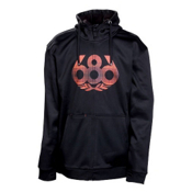 686 Icon Bonded Tech Fleece - Mens Hoodie, Black, medium
