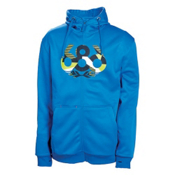 686 Icon Bonded Tech Fleece - Mens Hoodie, Blue, medium