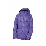 686 Smarty Latice 3 In 1 Womens Insulated Snowboard Jacket, Iris Plaid, medium