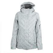 686 Smarty Latice 3 In 1 Womens Insulated Snowboard Jacket, Light Grey, medium