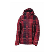 686 Reserved Radiant Womens Insulated Snowboard Jacket, Redwood Yarn Dye Plaid, medium