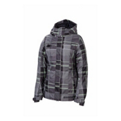 686 Reserved Radiant Womens Insulated Snowboard Jacket, Gunmetal Yarn Dye Plaid, medium