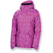 686 Reserved Luster Womens Insulated Snowboard Jacket, Orchid Heather Plaid, medium