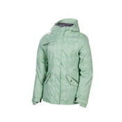 686 Reserved Luster Womens Insulated Snowboard Jacket, Mint Heather Plaid, medium