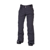 686 Reserved Mission Womens Snowboard Pants, Black Twill Denim, medium