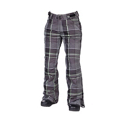 686 Reserved Mission Womens Snowboard Pants, Gunmetal Yarn Dye Plaid, medium