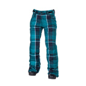 686 Reserved Mission Womens Snowboard Pants, Teal Yarn Dye Plaid, medium