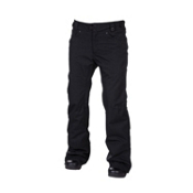 686 Mannual Patron Womens Snowboard Pants, Black Herringbone Denim, medium