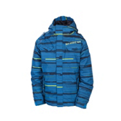 686 Smarty Streak Boys Snowboard Jacket, Blue Streak, medium