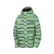 686 Smarty Streak Boys Snowboard Jacket, Grass Streak, medium