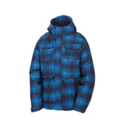 686 Mannual Command Boys Snowboard Jacket, Blue Ombre Plaid, medium