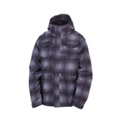 686 Mannual Command Boys Snowboard Jacket, Grey Ombre Plaid, medium