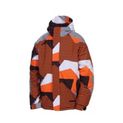 686 Mannual Mix Boys Snowboard Jacket, Orange Mix Camo, medium