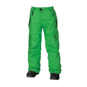 686 Mannual Ridge Kids Snowboard Pants, Grass, medium