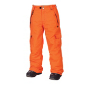 686 Mannual Ridge Kids Snowboard Pants, Orange, medium