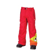 686 Snaggleface Kids Snowboard Pants, Red, medium