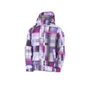 686 Smarty Ginger Girls Snowboard Jacket, Violet Plaid, medium