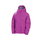 686 Smarty Ginger Girls Snowboard Jacket, Light Orchid Linen Denim, medium
