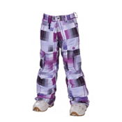 686 Smarty Mandy Girls Snowboard Pants, Violet Plaid, medium