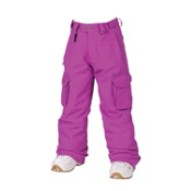 686 Smarty Mandy Girls Snowboard Pants, Light Orchid Linen Denim, medium