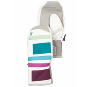 686 Nectar Insulated Womens Mittens, White, medium