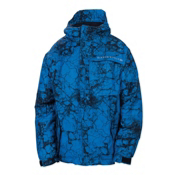 686 Mannual Cracked Boys Snowboard Jacket, Blue Cracked Skulls, medium