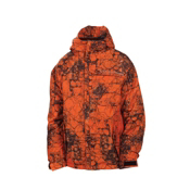 686 Mannual Cracked Boys Snowboard Jacket, Orange Cracked Skulls, medium