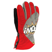 POW Grom Kids Gloves, Red, medium