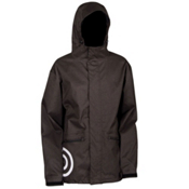 Air Blaster Javier Mens Shell Snowboard Jacket, Black Wool Look, medium