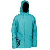Air Blaster Javier Mens Shell Snowboard Jacket, Turquoise, medium