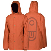 Air Blaster Freedom Toaster Mens Insulated Snowboard Jacket, Orange Micro Dobby, medium