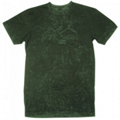 Air Blaster Acid Wash Terry T-Shirt, Black-Hot Green, medium